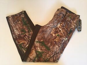 UNDER ARMOUR Sz XL Mens Pants Real Tree Camo Camouflage Cold Gear Storm 1 Loose