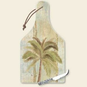 Palm Tree Cutting Serving Board with Knife