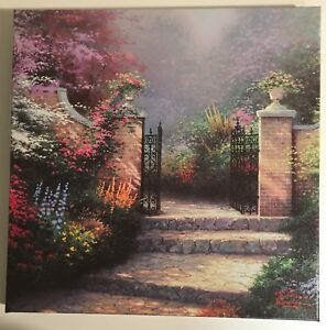 The Victorian Garden Gallery Wrapped Thomas Kinkade 14x14 Canvas $95.00