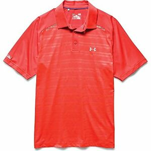 Under Armour Coldblack Forged Stripe Polo Men's Bolt Orange Bolt Orange Steel Me