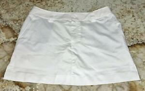 UNDER ARMOUR UA Core Solid White Skirt Skort Built In Shorts NEW Womens Sz 8