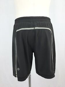 Lululemon Men's Pace Breaker Shorts wLiner Charcoal Gray Size XL
