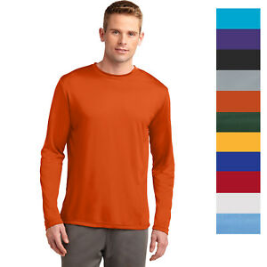 Sport Tek Men's Long Sleeve Performance Moisture Wicking T Shirt M ST350LS $9.73