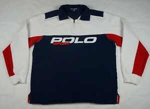 Rare Vintage RALPH LAUREN POLO SPORT Spell Out RL Pullover Sweatshirt 90s SZ L