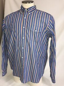 Vintage Ralph Lauren Dress Shirt Size Large Custom Fit Pinstripe Dry Cleaned