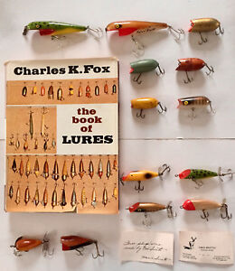 RARE VINTAGE CHARLES FOX & NED SMITH & PENN DART CO. FISHING LURES - READ MORE!