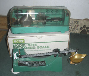 RCBS Model 10-10 & 505 Pouder Reloading Scales - LOT OF 2 - ESTATE SALE ITEMS!