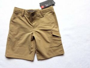 Boys Heat Gear Loose Under Armour Khaki Golf Dress Shorts YXS NWT