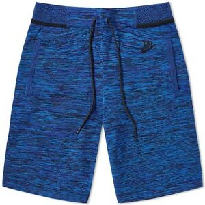 Mens Nike Tech Knit Shorts Blue Hyper CobaltBlack Extra Small XS 728675-439