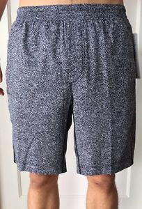 Lululemon Men's Size L Pace Breaker Short Black White PAWB Liner 9