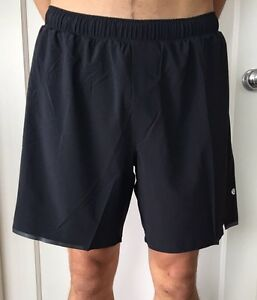Lululemon Men's Size L Surge Short 7 Black BLK Liner Reflective Core NWT Swift