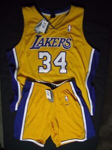 Nike 100% Authentic Shaquille O'Neal Pro Cut Lakers Game Jersey