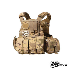 AA Shield Molle Plates Carrier 6094 Style Military Tactical Equipment Vest MC