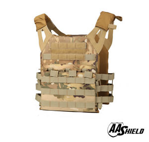 AA Shield Molle Hunt Plates Carrier Lightweight Military Tactical Vest MULTICAM