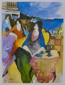 Itzchak Tarkay TRANQUIL MOMENT Signed Limited Edition Original Lithograph Art