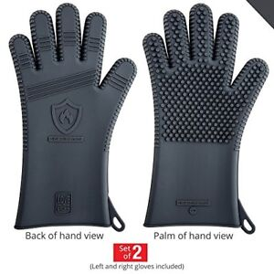 Premium Silicone BBQ Gloves - Heat Resistant for Grill Barbecue
