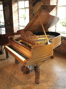 Unrestored 1900 Steinway Model A grand piano with a walnut case