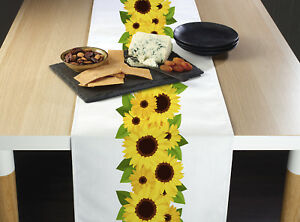 Sunflower Garland Border Table Runners 12quot; x 72quot; or 14quot; x 108quot;