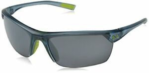 Under Armour Zone 2.0 8600050-177501 Sunglasses Satin Crystal Gray 65 mm New