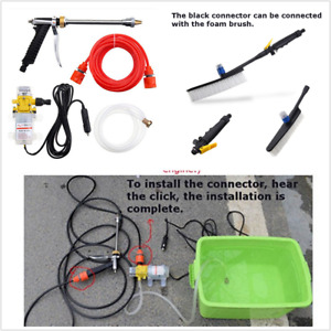Portable 12V 60W Pressure Washer 160PSI Water Pump Car Wash Cleaning Kit 4Lmin