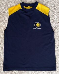 YOUTH Dry-Fit AthleticActive INDIANA PACERS SLEEVELESS JERSEY T-SHIRT Navy-Blue