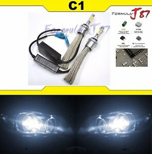 LED Kit C1 60W 881 5000K White Two Bulbs Fog Light Replacement Upgrade Lamp OE
