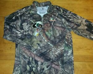 NWT Men's Mossy Oak Camo Performance Dri Dry Fit Pullover Shirt Hunting 2XL