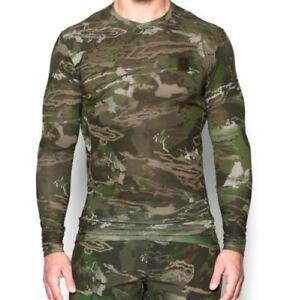 Under Armour ColdGear Thermal Ridge Reaper Forest Camo Compression Top Shirt