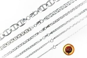 ITALY 925 SOLID Sterling Silver MARINER Chain Necklace or Bracelet 7quot; 36quot; $19.99
