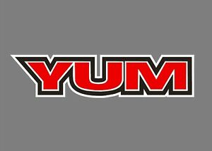 YUM baits decals stickers bass boat tournament sponsor fishing baits lures worms