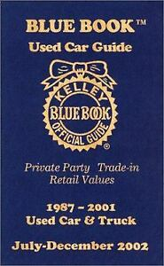 Kelley Blue Book Used Car Guide: Private Party Trade-In Retail Values...