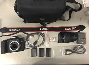 Canon EOS 50D DSLR Camera with 28-135 mm Lens and other Accessories