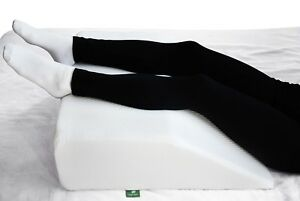 Elevating Leg Pillow Memory Foam Top Hip Knee Foot Support Wedge White 8