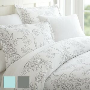 Premium 3 Piece Vine Patterned Duvet Cover Set Hotel Collection by iEnjoy home