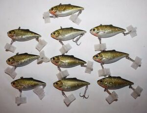 Fishing Lures Lip-less Crankbait Golden Shad Golden Croaker (10) Lot