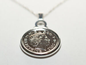 2008 10th Tin Wedding Anniversary Pendant 18 inch Sterling Silver Chain