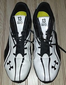 eric DECKER 2010 authentic NFL football COMBINE shoes CLEATS wr 13 under ARMOUR