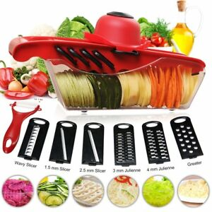 Mandoline Vegetable Slicer Cutter Chopper of Godmorn 6 Interchangeable Blades