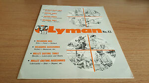 Lyman No.43 Catalog Sights Scopes Mounts Reloader 23 Illustrated Pages Tech Data