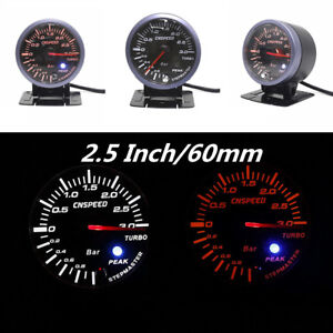 2.5 inch 60mm Car Truck LED Turbo Boost Vacuum Press Pressure Gauge Meter Dial