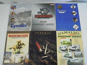 Lot of 6 Ammunition and Reloading Supply Catalogs Lyman Winchester Federal
