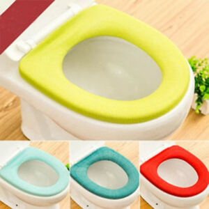 Bathroom Toilet Seat Closestool Washable Soft Warmer Mat Cover Pad Cushion Decor