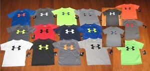 UNDER ARMOUR SHORT SLEEVE SHIRT BOYS SIZE 3T4567  NWT