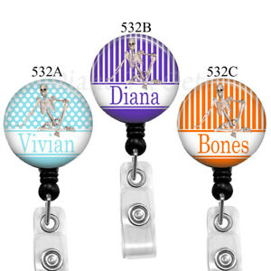 Ortho Tech Badge Reel Skeleton Name Badge Holder 3 Colors to Choose From532A