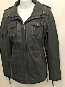 MICHAEL by MICHAEL KORS Women's Soft Leather Moto Motorcycle Jacket Medium M