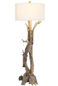 NEW Stunning Designer Floor Lamp Modern Organic Wood Branch Driftwood Coastal