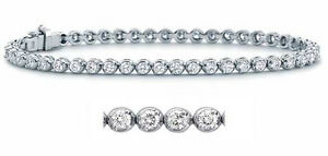 1.60 CT Natural Round Diamond Tennis F VS1 Women's Bracelets 18K White Gold 7