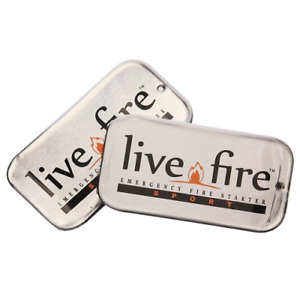 New Live Fire Sport Duo Firestarter Twin Pack Tin Measures 1.89
