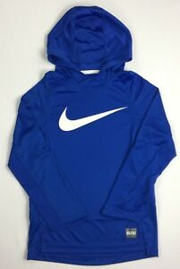 Boy's Youth Nike Elite Dry Dri-Fit Long Sleeve Hooded Shirt