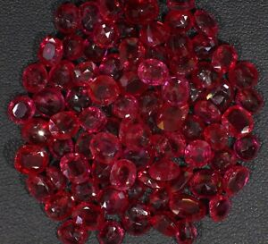 Lots ruby mogok 85pices 60.35ct